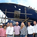 MV ORIGIN Christening ceremony in Guayaquil. Ecoventura Galapagos cruise